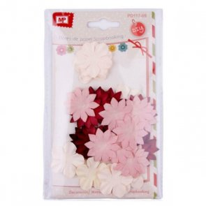 Decorative Paper Flowers / Pink Mix