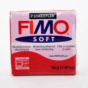 FIMO Soft / Cherry Red (26)