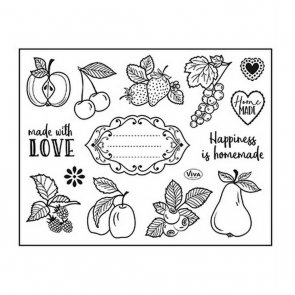 Silicone Stamps by Viva / Happiness is homemade