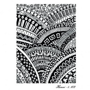 Silk Screen šablona Hanni / 103