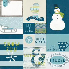 Scrapbookový papír Simple Stories / Snow Fun / Elements 2