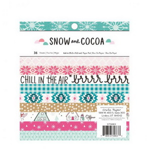 Scrapbooking Paper Pad Crate Paper / Snow & Cocoa
