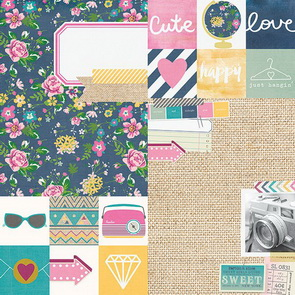 Scrapbookový papír Simple Stories / 2 x 2 a 6 x 8 / So Fancy