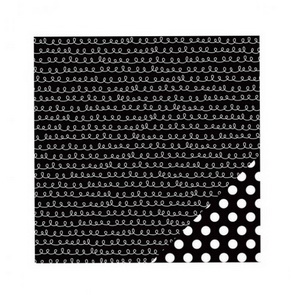 Scrapbooking Paper American Crafts / Black Squirly