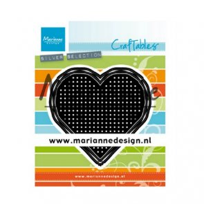 Metal Cutting Dies by Marianne Design / Cross Stitch / Heart