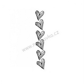 Silicone stamps by Nemravka / Border Grid Hearts