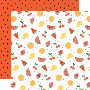 Scrapbooking Paper / Echo Park / Summer Time / Fruit