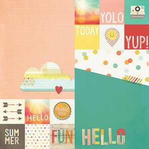 Scrapbookový papír Simple Stories / 2 x 2 a 6 x 8 / Summer Vibes