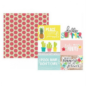 Scrapbooking Paper by Simple Stories / 4 x 6 Horizontal / Hello Summer