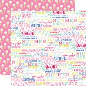 Scrapbooking Paper by Echo Park / Best Summer / Summer Words