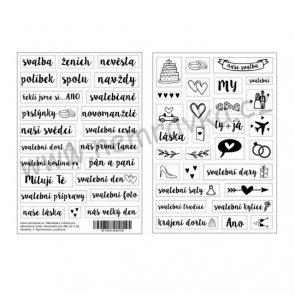 Czech Transparent Stickers by Nemravka / Wedding
