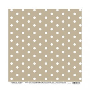 Scrapbooking Paper by American Crafts / Tan Dots