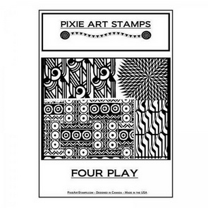 Textura Mike Breil / Pixie Art Stamps / Four Play