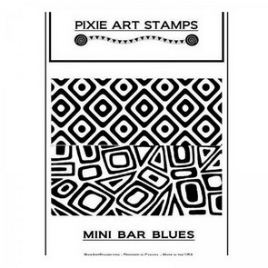 Texture Sheet by Mike Breil / Pixie Art Stamps / Mini Bar Blues