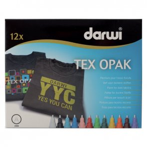 Darwi TEX Opak Marker / 1.2 mm / Set