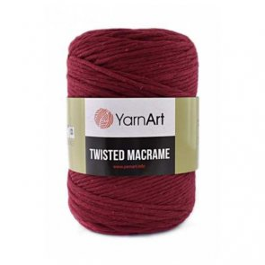 YarnArt Twisted Macrame / 781 Red Burgundy