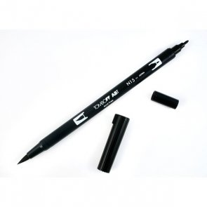 Double Brush Marker by Tombow / Black