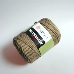 YarnArt Twisted Macrame 500 g / 768 Brown natural