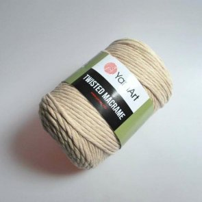 YarnArt Twisted Macrame 500 g / no. 753 Beige
