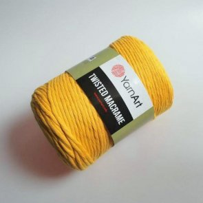 YarnArt Twisted Macrame 500 g / 764 Yellow