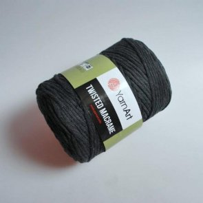 YarnArt Twisted Macrame 500 g / 790 Black