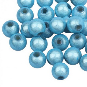 Sparkling Beads / 20 pc / 6 mm / Light Blue
