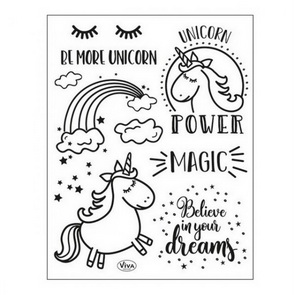 Silicone Stamps by Viva / Unicorn Power
