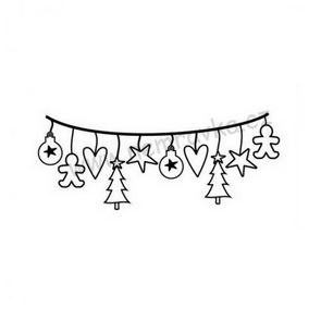 Silicone Stamps by Nemravka / Christmas Garland