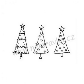 Silicone Stamp Set by Nemravka / Christmas Trees