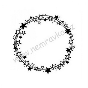Silicone Stamps by Nemravka / Wreath with Stars