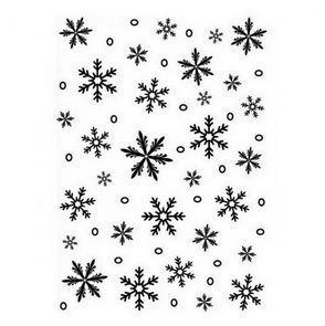 Embossing Folder by Darice / Small Snowflakes