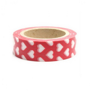 Washi Tape / Red with White Hearts