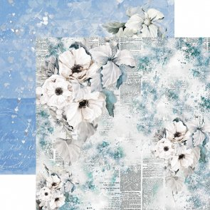 Scrapbooking Paper / 13 Arts / In Love / White Flowers
