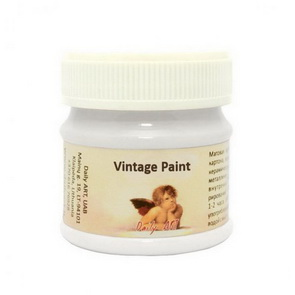 Vintage Paint Daily Art / Pure White