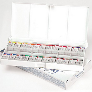 Watercolor Paint Set by St. Petersburg / 24 pc / White Nights