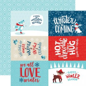 Scrapbooking Paper by Echo Park / 4 x 6 / Celebrate Winter