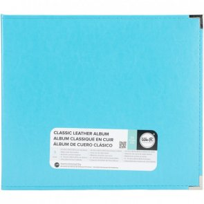 Faux Leather Scrapbooking Album by WRM / 12 x 12 / Aqua