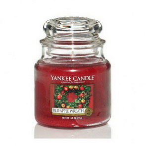 Classic Yankee Candle / střední / Red Apple Wreath