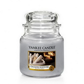 Classic Yankee Candle / střední / Crackling Wood Fire