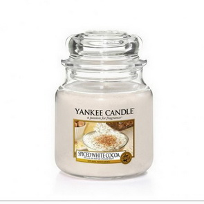 Classic Yankee Candle / střední / Spiced White Cocoa