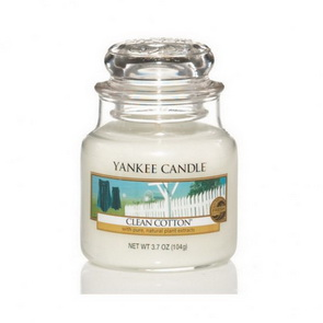 Classic Yankee Candle / malý / Clean Cotton