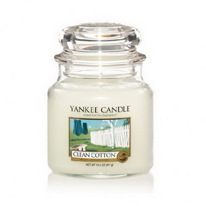 Classic Yankee Candle / střední / Clean Cotton