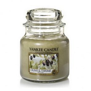 Classic Yankee Candle / střední / Olive & Thyme