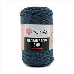 Macrame Rope 3 mm / YarnArt / 761 Blue Dark