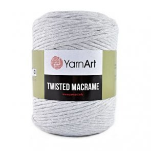 YarnArt Twisted Macrame / 756 Grey light