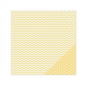 Scrapbookový papír American Crafts / Yellow Chevron