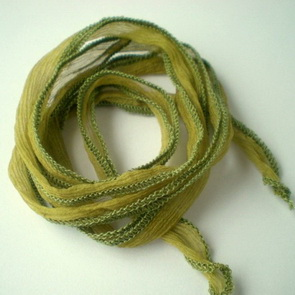 Silk Crinkle Chiffon String / Thick / Olive