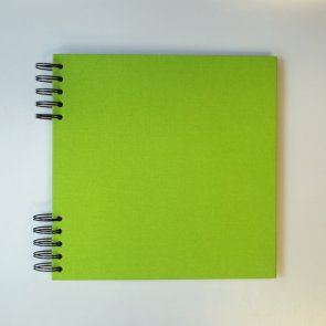 Cardboard Album with Green Cover / 22 x 22 cm / White Paper