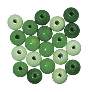 Wooden Beads / Rayher / Green