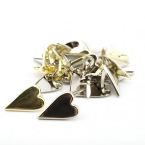 Decorative Brad Set / Hearts / Gold and Silver